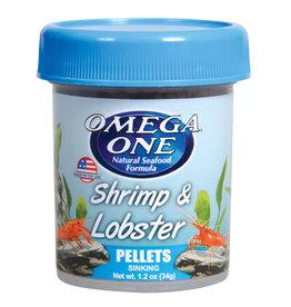 Omega One Shrimp & Lobster Pellets - 1.2 oz