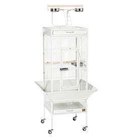 """Prevue Hendryx Prevue Hendryx Wrought Iron Select Bird Cage with Playtop - Chalk White - 18"""" x 18"""" x 57"""""""