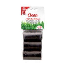 Dogit Dogit Waste Bags - 3 Rolls/20 Bags - Black