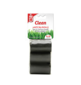 Dogit Dogit Waste Bags - 6 Rolls/20 Bags - Black