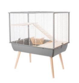 Zolux Zolux Neo Muki Small Pet Cage - Grey with White Wire