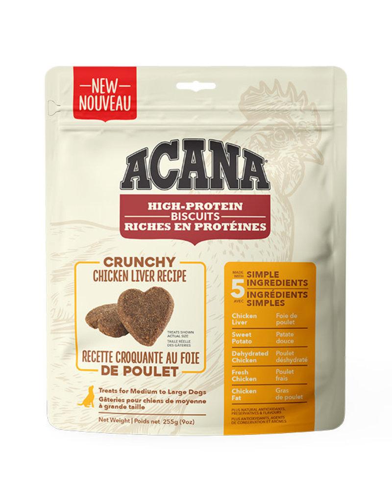 Acana Acana High Protein Biscuits - Crunchy Chicken Liver - Small - 255g