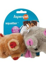 Aspen Pet Products Aspen Pet Squatter Moose & Elephant Toy - Small Dog