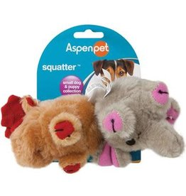 Aspen Pet Products Aspen Pet Squatter Moose & Elephant Toy - Small Dog