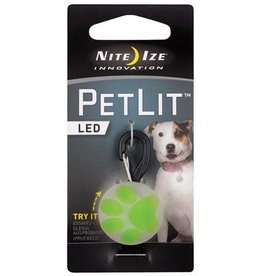 Nite Ize Nite Ize PetLit LED Collar Light Lime Paw