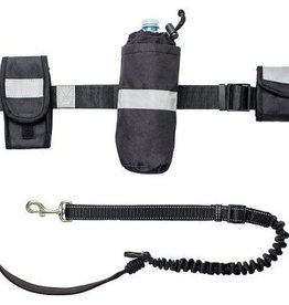 GF Pet GF Pet Waist Belt and Bungee Dog Leash with Removable Pouches