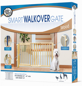 Four Paws Walkover Wood Gate with Door