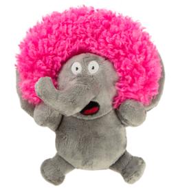 GoDog GoDog Silent Squeak Crazy Hairs Elephant - Large