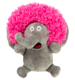 GoDog GoDog Silent Squeak Crazy Hairs Elephant - Small