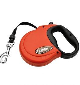 Coastal Pet Power Walker Retractable Dog Leash Medium - Red 44lb x 16ft