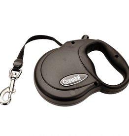Coastal Pet Power Walker Retractable Dog Leash Small - Black 32lb x 16ft