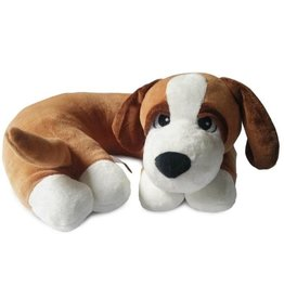 The Dog Pillow Company The Dog Pillow Company Dozy-Brown Dog Pillow with White Paws