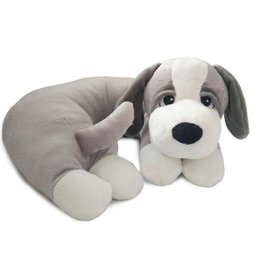 The Dog Pillow Company The Dog Pillow Company Snoozy-Grey Dog Pillow with White Paws