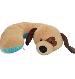 The Dog Pillow Company The Dog Pillow Company Snug-Beige Dog Pillow with Heart Eye