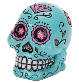 Penn Plax Penn Plax Deco Replicas Mini Sugar Skull Ornament - Blue