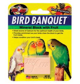 Zoo Med Zoo Med Bird Banquet Mineral Block - Fruit Formula - 1 oz