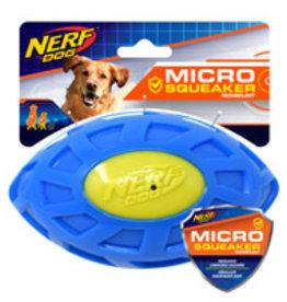 Nerf Dog Nerf Micro Squeak Exo Football - Blue & Green - 15 cm (6 in)