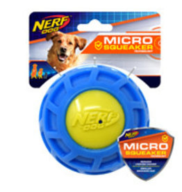 Nerf Dog Nerf Micro Squeak Exo Ball - Large - Blue & Green - 10 cm (4 in)
