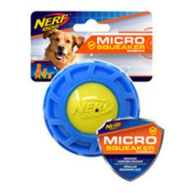 Nerf Dog Nerf Micro Squeak Exo Ball - Medium - Blue & Green - 7.5 cm (3 in)