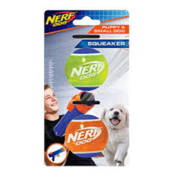 Nerf Dog Nerf Puppy TPR Tennis Ball - 2 Pack - Assorted - 5 cm (2 in)