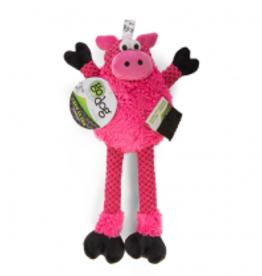 GoDog GoDog Checkers Skinny Pig Dog Toy - Medium