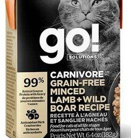 GO! Go! Carnivore Grain Free Minced Lamb and Wild Boar Cat 6.4oz