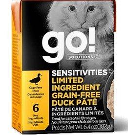 GO! Go! Sensitivities LID Grain Free Duck Cat 6.4oz