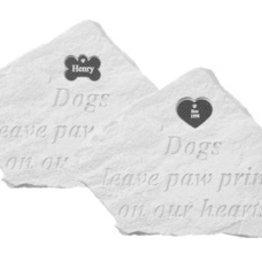 Retail Advantage Memorial Heart - Dogs Leave Paw Prints