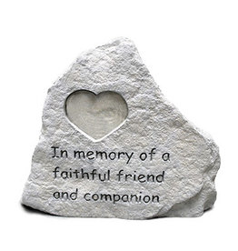 Retail Advantage Memorial Heart - In Memory of a Faithful Friend and Comanion