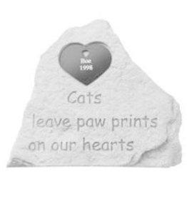 Retail Advantage Memorial Heart - Cats Leave Paw Prints - Large