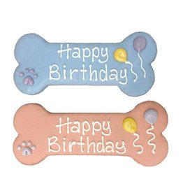 """Bosco and Roxy's Cookie - Bosco and Roxy's Pre-packaged 8"""" Birthday Bones - Pink or Blue - 1pc."""