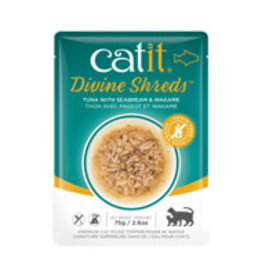 Catit Catit Divine Shreds - Tuna with Seabream & Wakame - 75g Pouch