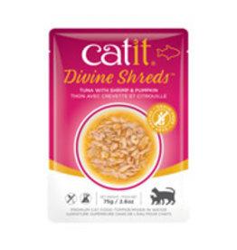 Catit Catit Divine Shreds - Tuna with Shrimp & Pumpkin - 75g Pouch