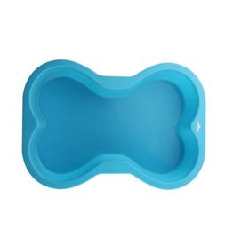 puppy cake Puppy Cake - Dog Bone Silicon Cake Pan - Blue