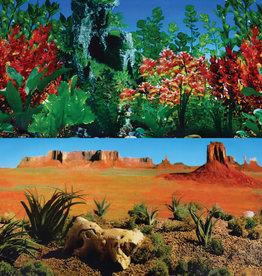 "Underwater Treasures Underwater Treasures Red Butterfly/Desert Reversible Background 24"" - Sold by the FOOT"