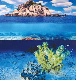 "Underwater Treasures Underwater Treasures Yellow Coral/Waves Stone Reversible Background 24"" - Sold by the FOOT"