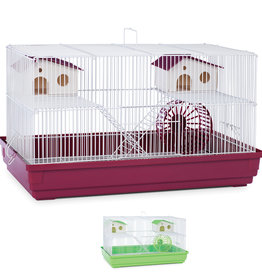 """Prevue Hendryx Prevue Hendryx Deluxe Hamster & Gerbil Cage - Red/Green - Multipack - 13"""""""