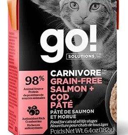GO! Go! Carnivore Grain Free Salmon and Cod Pate Cat 6.4oz