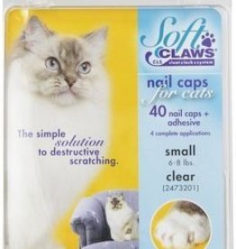 Softclaws Soft Claws Cat Clear Small
