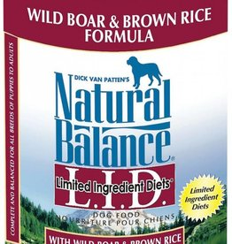 Natural Balance Natural balance LID wild boar & brown rice 12/13OZ