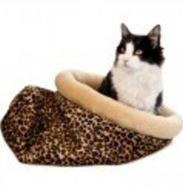 K&H Self Warming Kitty Sack Leopard
