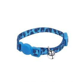 Lil Pals Li'l Pals Adjustable Breakaway Kitten Collar - Blue Leopard 5/16x6-8in