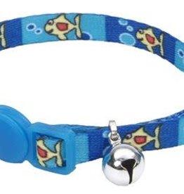 Lil Pals Li'l Pals Adjustable Breakaway Kitten Collar - Fish with Bubble 5/16x6-8in