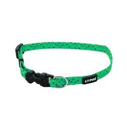 Lil Pals Li'l Pals Adjustable Patterned Dog Collar - Teal Diamonds 5/16x6-8in