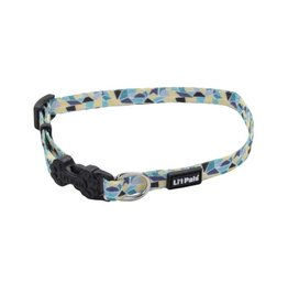 Lil Pals Li'l Pals Adjustable Patterned Dog Collar - Teal Stained Glass 5/16x6-8in