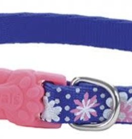 Lil Pals Li'l Pals Reflective Dog Collar - Flowers with Dots 3/8x8-12in