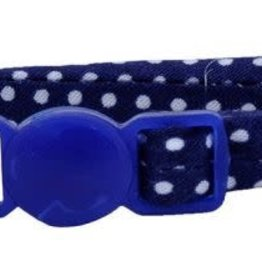 Lil Pals Li'l Pals Round Kitten Collar - Navy Dots 5/16x8in