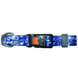 """AK-9 AK-9 Denim Adjustable Nylon Collar 5/8 x 8-14"""" Blue"""