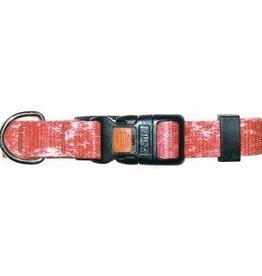 "AK-9 AK-9 Denim Adjustable Nylon Collar 5/8 x 14-18"" Red"