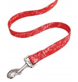 "AK-9 Ak-9 Denim Nylon Lead 1 x 4"" Red"